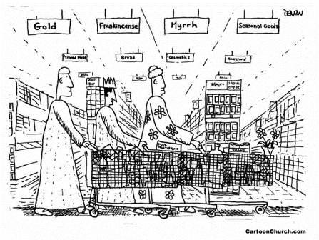 christmas supermarket by cartoonchurchdotcom